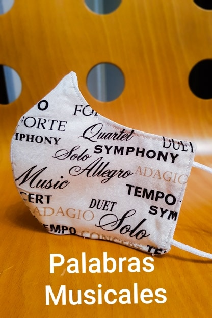 mascarilla Palabras musicales