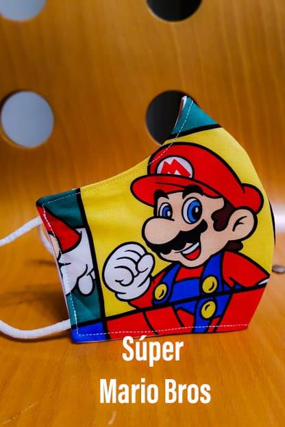 mascarilla Super Mario Bros