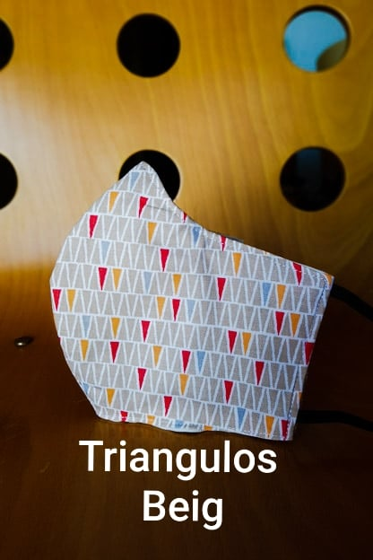 mascarilla Triangulos Beig