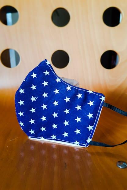 Mascarilla Estrellas Marino