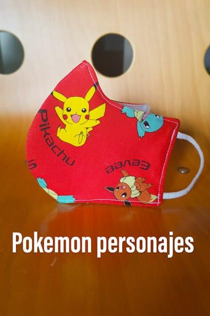 mascarilla pokemon personajes