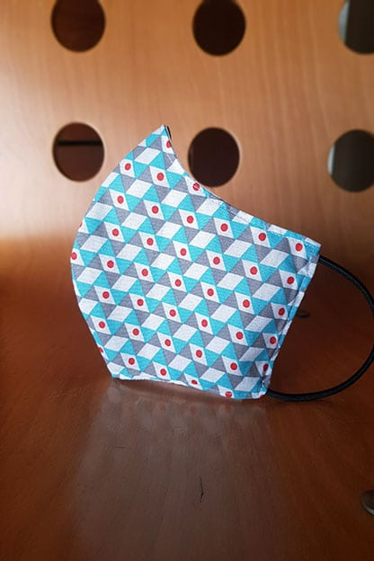 mascarilla de tela geometric