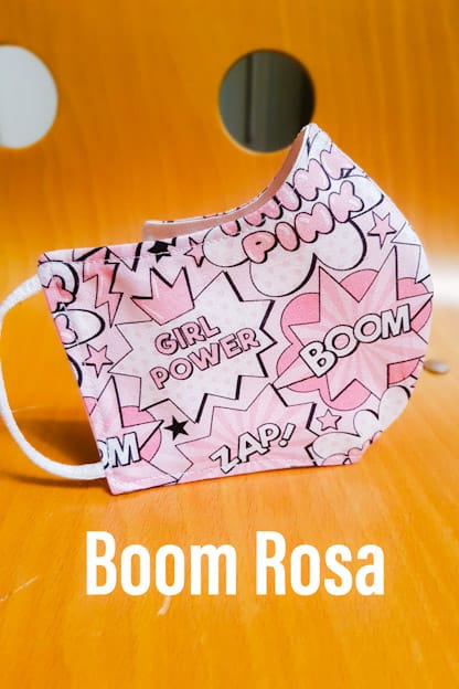 mascarilla Boom Rosa