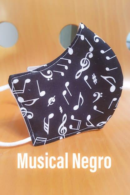 mascarilla Musical negro