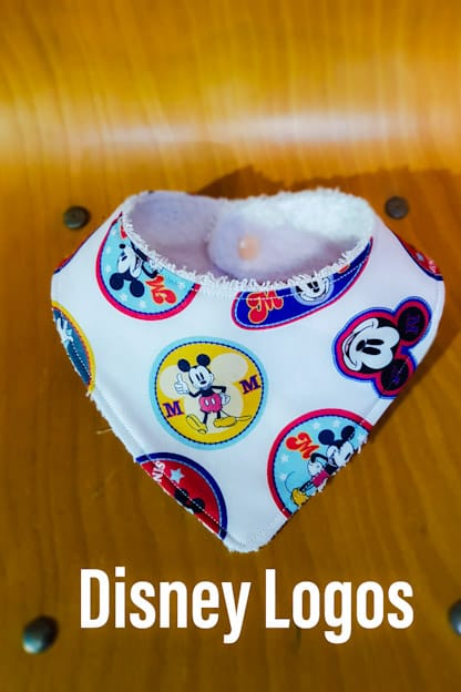 Bandana babero bebe Disney Logos