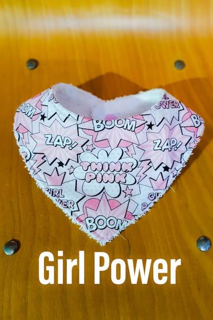 Bandana babero bebe Girl Power