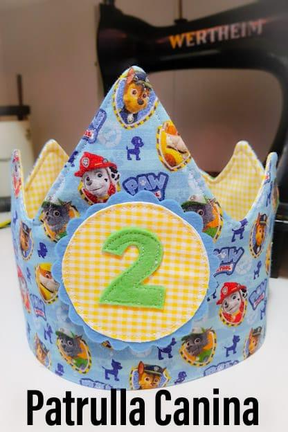 Corona de cumpleaños Patrulla Canina