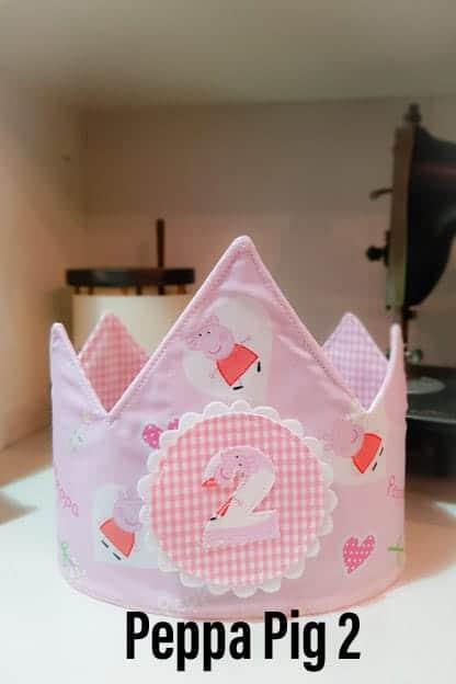 Corona de cumpleaños de tela Peppa Pig 2