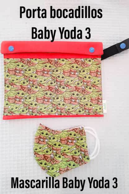 porta bocadillos Baby Yoda 3