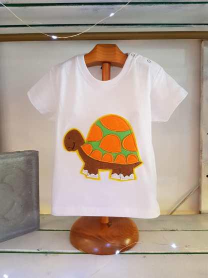 camiseta infantil Tortuga