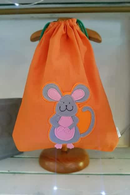 mochila infantil Raton naranja