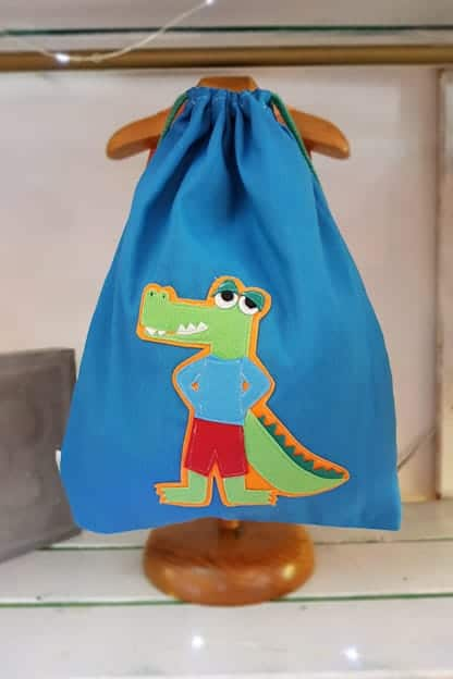 mochila infantil Cocodrilo