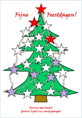 Speleltjeskaart: Kerstkaart