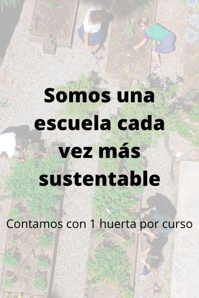 Somos una escuela cada vez más sustentable