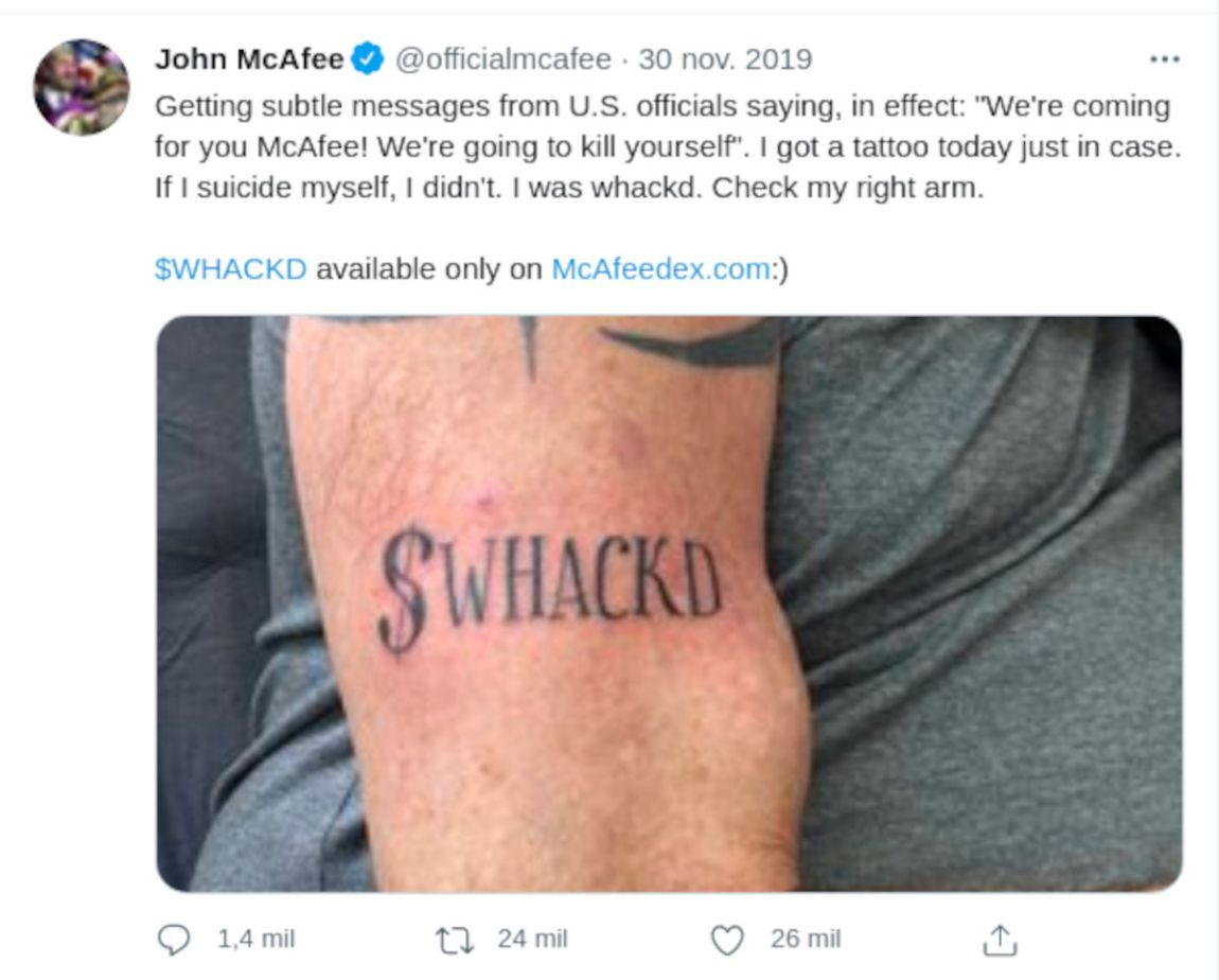 McAfee founder dies in apparent suicide