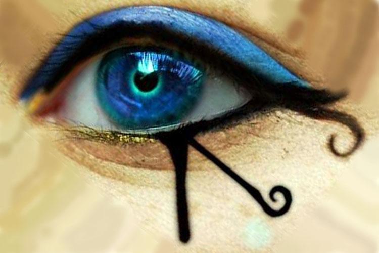 los egipcios se pintaban los ojos