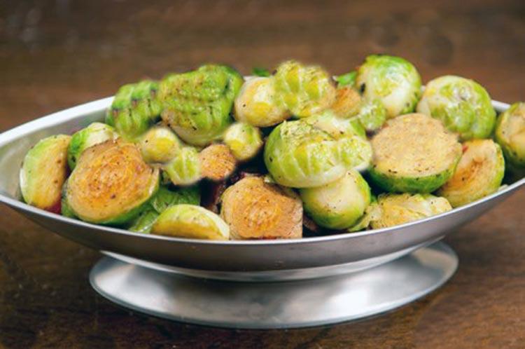 Receta de ensalada de Col de Bruselas y patata dulce