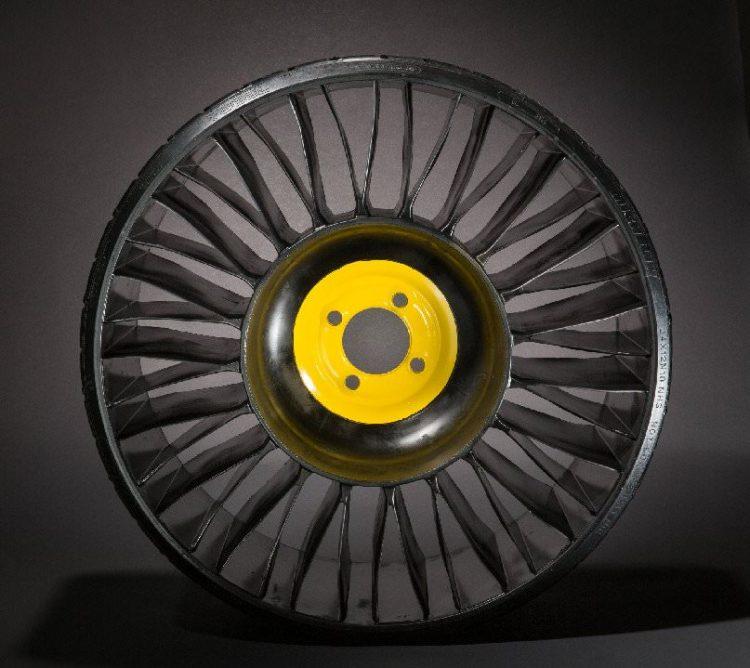 Los nuevos neumáticos sin aire de Michelin