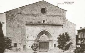 Postal de época. Iglesia de Santo Domingo.