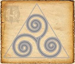 pasos para  dibujar una espiral del trisquel
