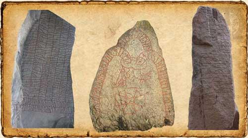 Diferentes piedras con runas grabadas