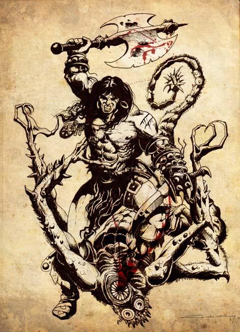 Ilustraciones de Fantasía - Conan por Luis Camacho
