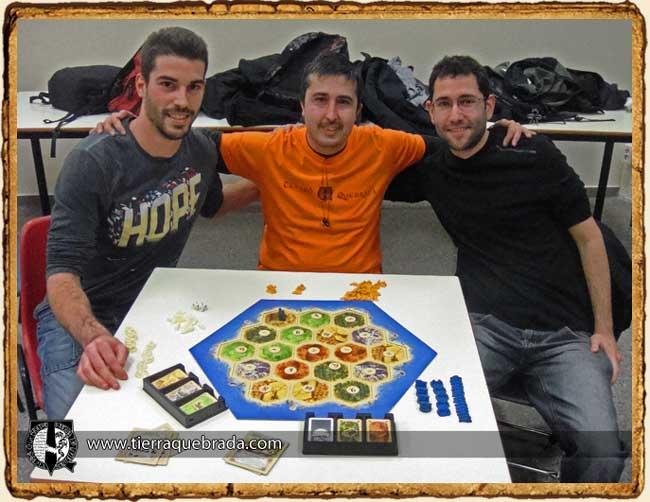 Los tres finalistas de los clasificatorios de Catan