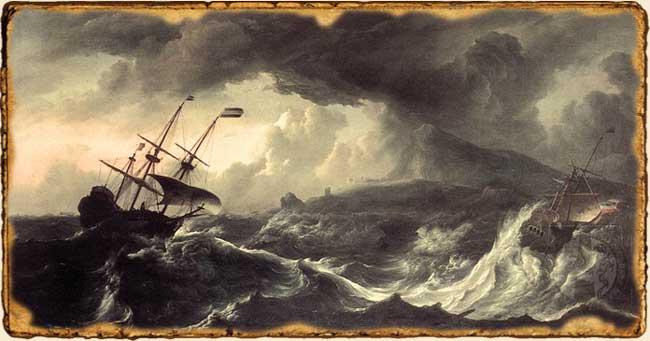 Relatos de Fantasía - Fuerza de mascarón - barcos en la tormenta