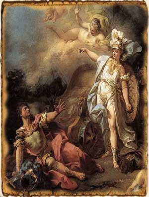 Mitología griega - Ares contra Atenea