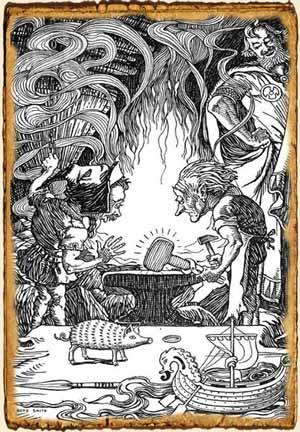 Enanos en la Mitología nórdica