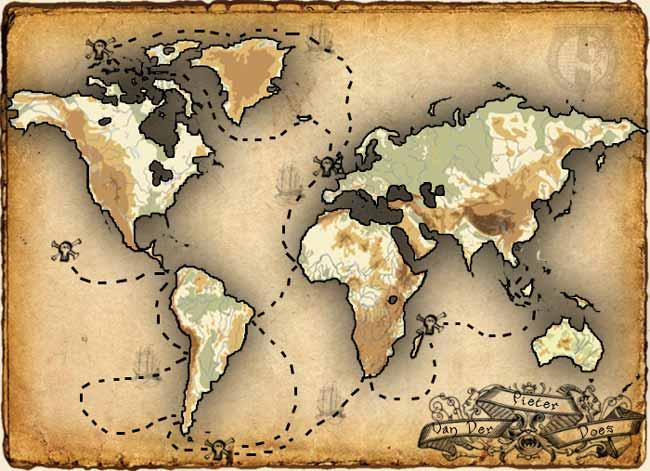 El último viaje del capitán pirata Pieter Van der Does.
