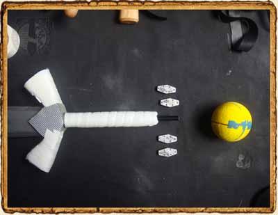 Empuñadura y pomo de la espada de SoftCombat