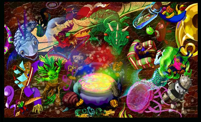 Ilustraciones de fantasía - El Caldero por Junco