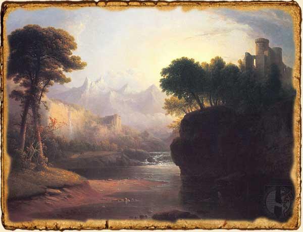 Relatos de fantasía - Sobrevolando - Castillo y valle