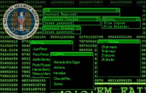 Survival Zombie: Pantalla hacking NSA