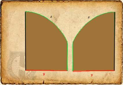 Patrón capucha capa medieval