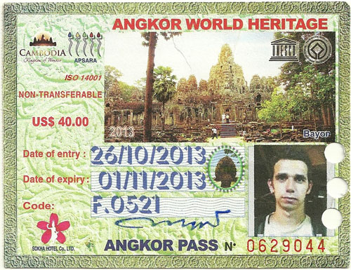 ticket angkor