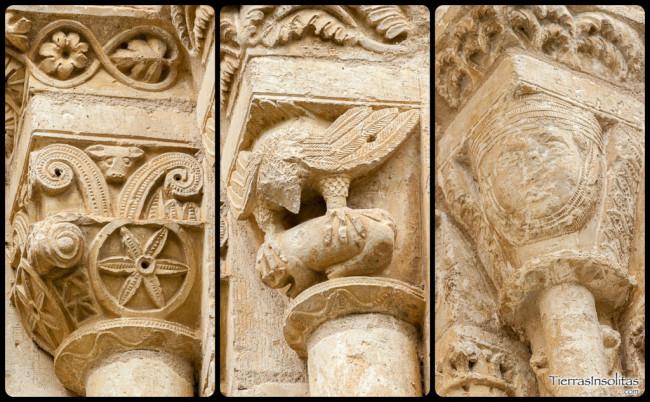 detalle capiteles romanico alavés