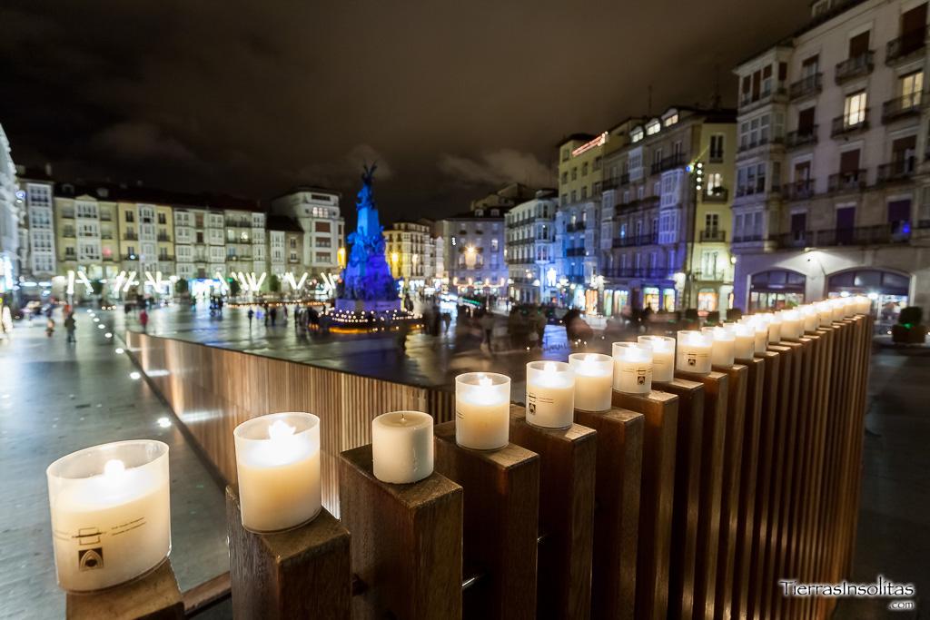 Noche Virgen espectáculo de juguete en Vitoria