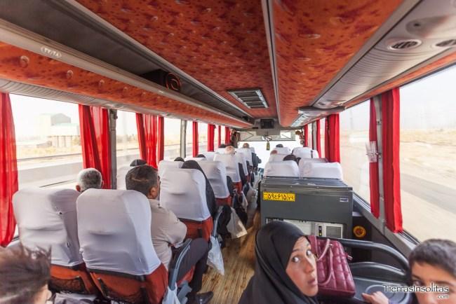 interior autobús mahmooly en irán