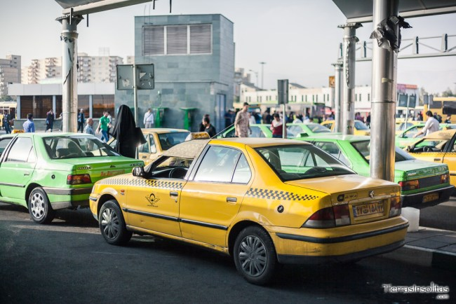taxi privado en irán