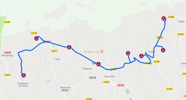 mapa ruta de los dolmenes rioja alavesa