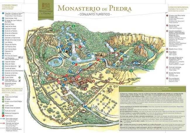 mapa monasterio de piedra zaragoza