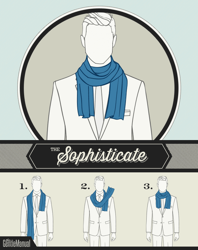 how to tie a scarf - The Sophisticate scarf knot