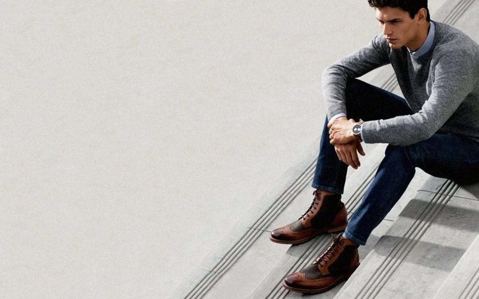 men's boots wingtip boots