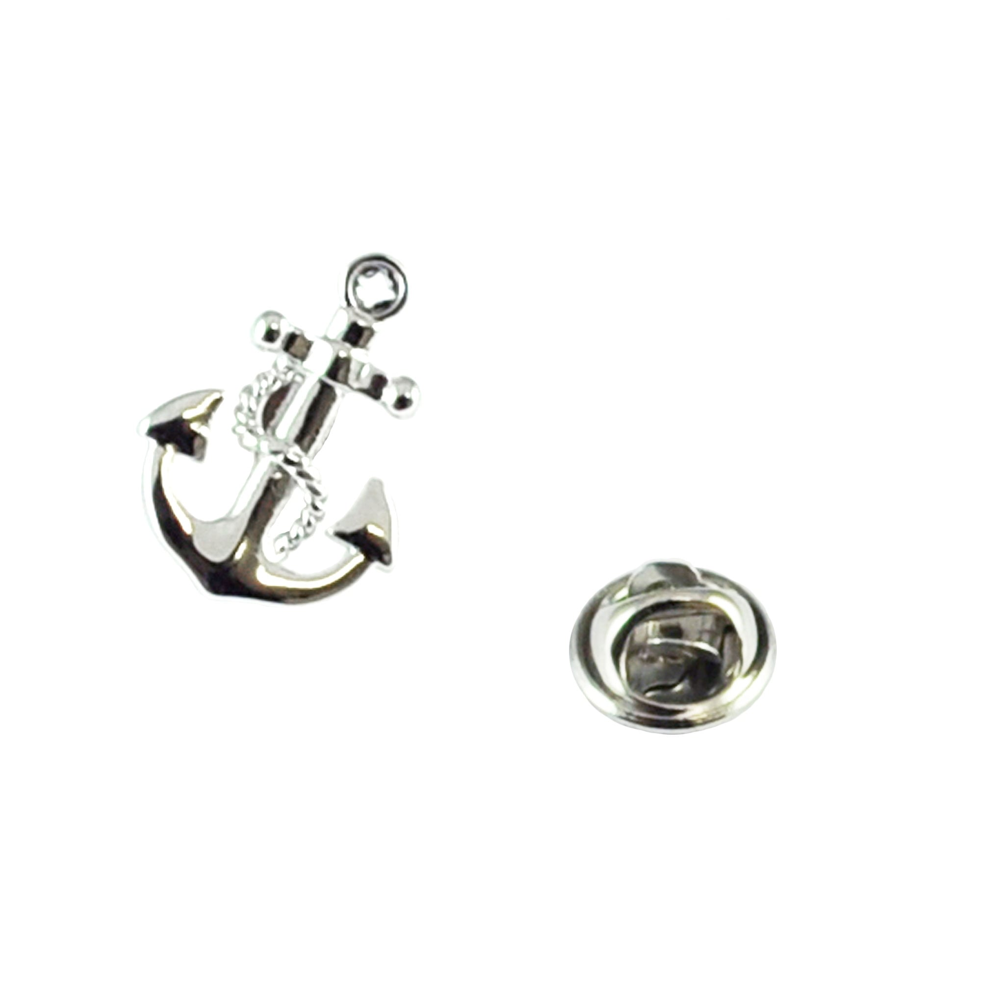Anchor Amp Chain Lapel Pin Badge From Ties Planet Uk