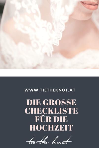 Die große Checkliste für die Hochzeit