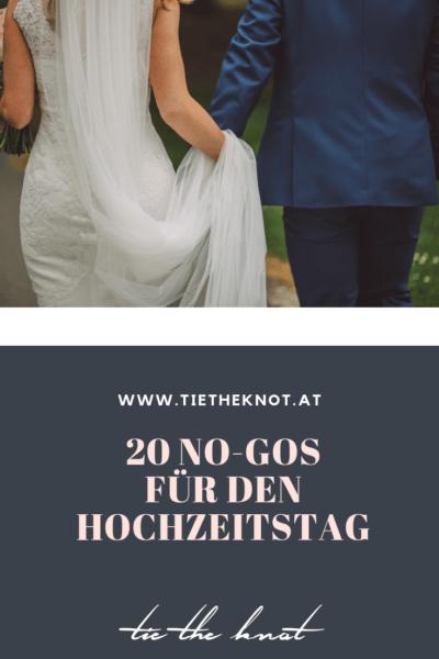 20 No-Gos für den Hochzeitstag