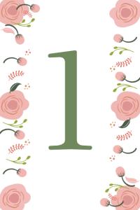 Tischnummern zum Ausdrucken 4