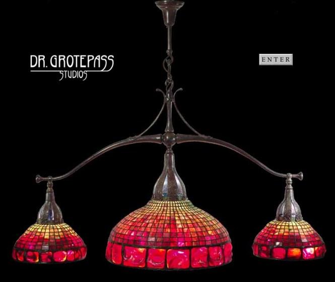 Pool Table Lamp Design Of Tiffany Studios New York Central Geometric Shade 21 1